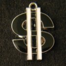 Dollar Sign Pendant (Black)