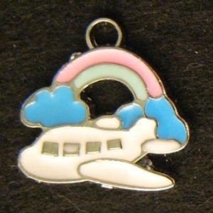 Airplane Pendant (Pink/Light Blue)