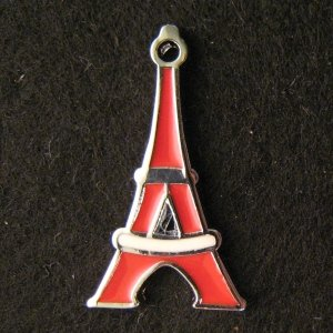 Tower Pendant (Red/White)