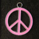 Peace Sign Pendant (Pink)