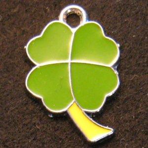 Lucky Clover Pendant (Green/Yellow)