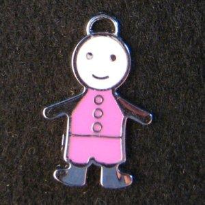 Little Friend Icon Pendant (Pink/White)