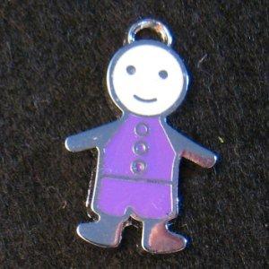Little Friend Icon Pendant (Purple/White)