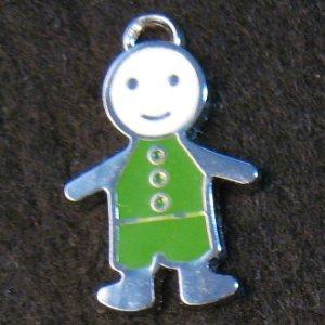 Little Friend Icon Pendant (Green/White)