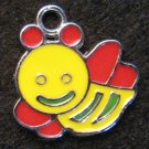 Bee Pendant (Yellow/Red)
