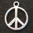 Peace Sign Pendant (Silver)