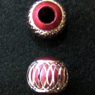 Shiny bead (03) (Deep Pink) (2pcs)