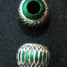 Shiny bead (05) (Green) (2pcs)