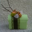 Green Treasure box with Bee