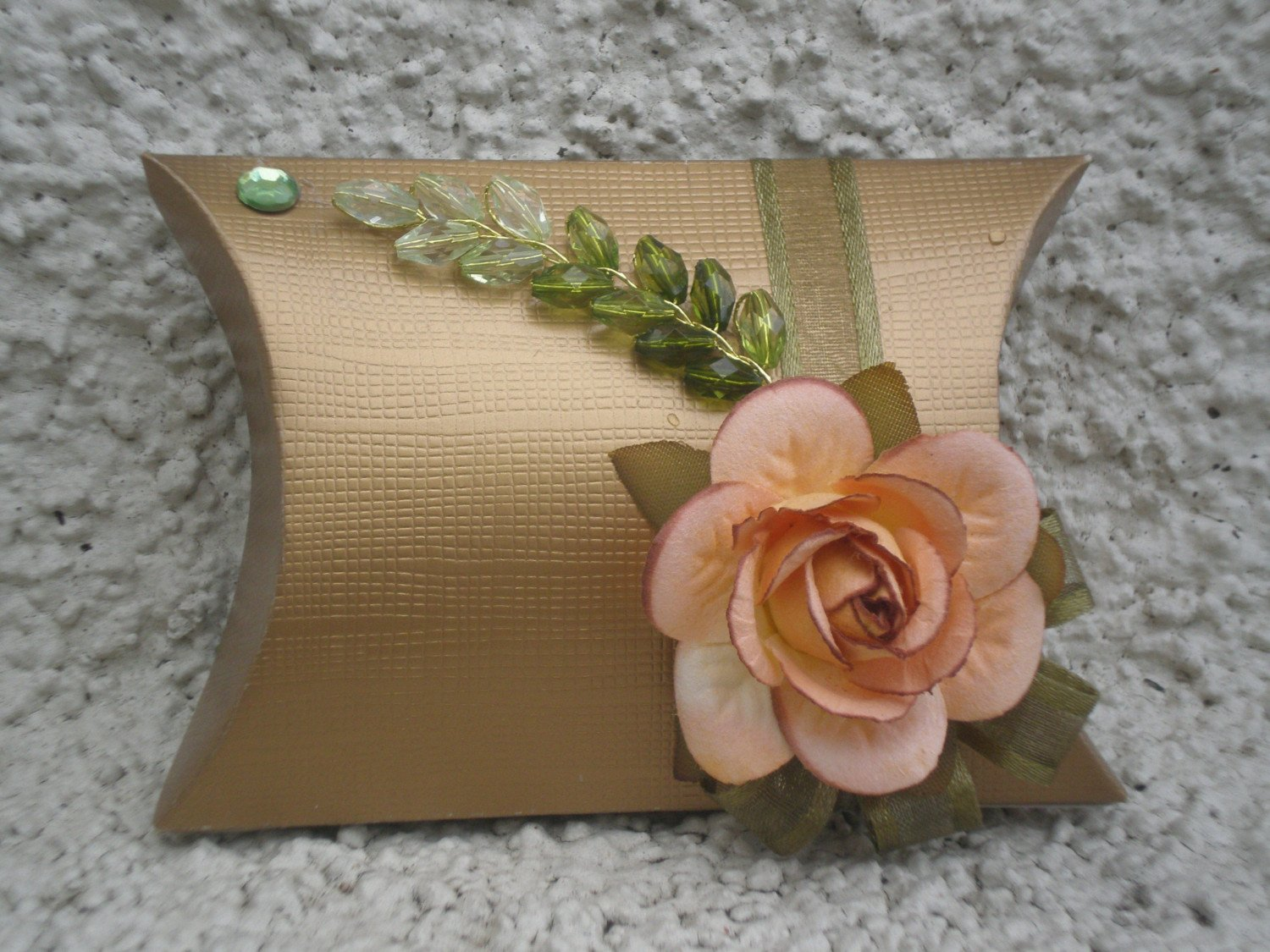 Favor Box- Gold pillow box