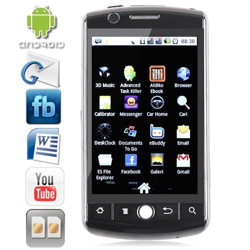 Dual SIM 3.5 Inch Touchscreen TV Smart Phone with Android 2.2 OS