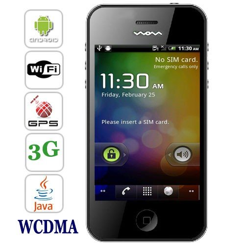 3.5 inch Android 2.3 OS 3G Smartphone Supports WIFI + GPS