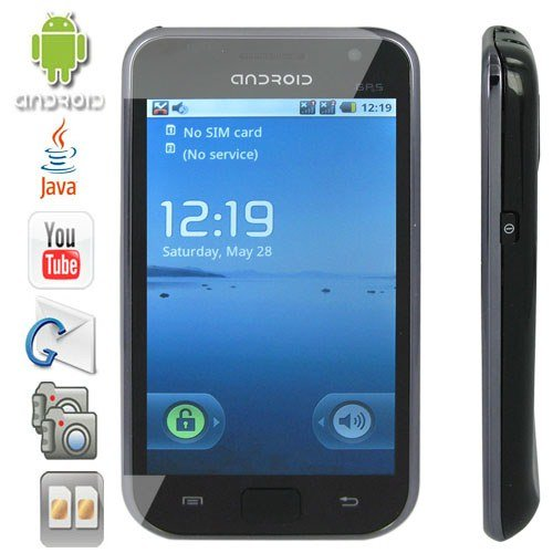 4.1 Inch Touchscreen Android 2.2 OS TV Smart Phone Support Dual Camera + GPS