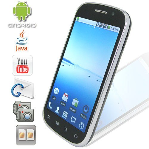 Android 2.2 OS 4.0 Inch Capacitive Touchscreen Smartphone with Dual Camera