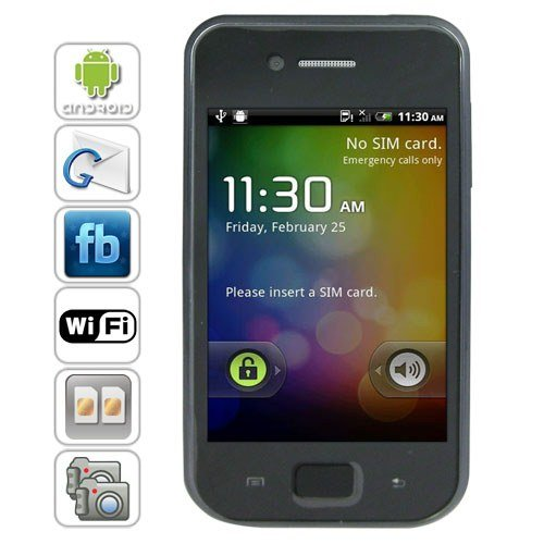 3.5 inch Touchscreen Android 2.2 OS Smart Phone Support GPS + WiFi + Analog TV