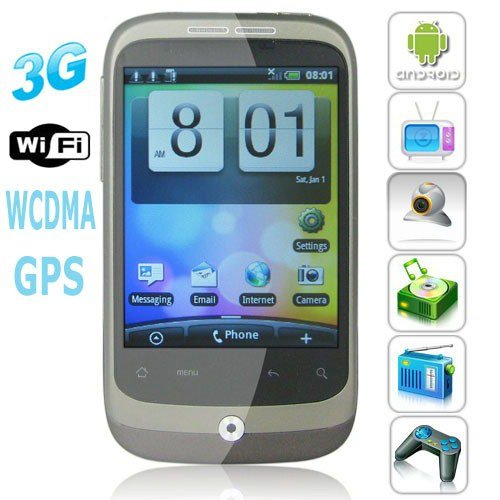 Android 2.2 OS WCDMA 3G 3.2 Inch Capacitive Touchscreen Smartphone with GPS