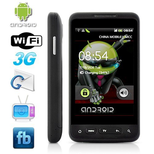 Android 2.1 3.8'' Capacitive Touchscreen 3G Smartphone Support GPS + Analog TV