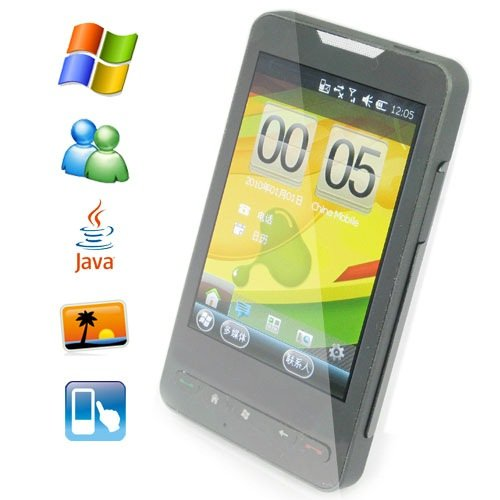 4.3 Inch TFT-LCD Touch Screen Cellphone Support GPS and Windows Mobile 6.5 OS