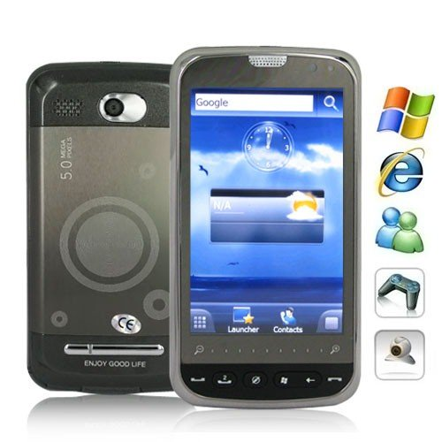 Windows Mobile 6.5 OS Cellphone Support GPS and 3.5 Inch LCD Touch Screen