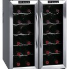 Sunpentown 24 Bottle Double-Door Dual-Zone Thermo-Electric Wine Cooler - WC-2461H