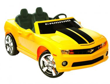 NPL Chevrolet Racing Camaro 12v Car WOW! - Yellow - NPL0820