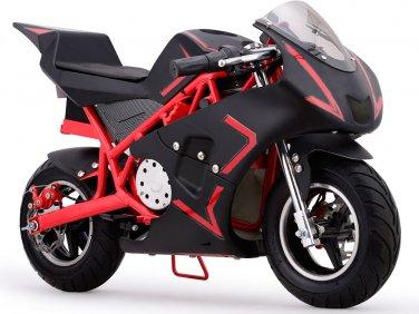 MotoTec Cali 36v Electric Pocket Bike - Red - Battery Powered - MT-EP-Cali_Red