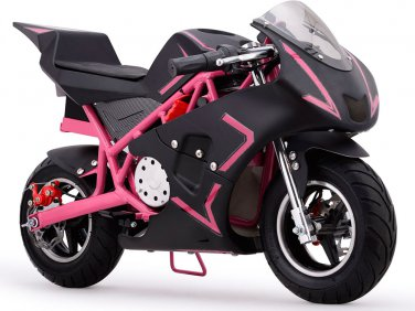 MotoTec Cali 36v Electric Pocket Bike - Pink - Battery Powered - MT-EP-Cali_Pink