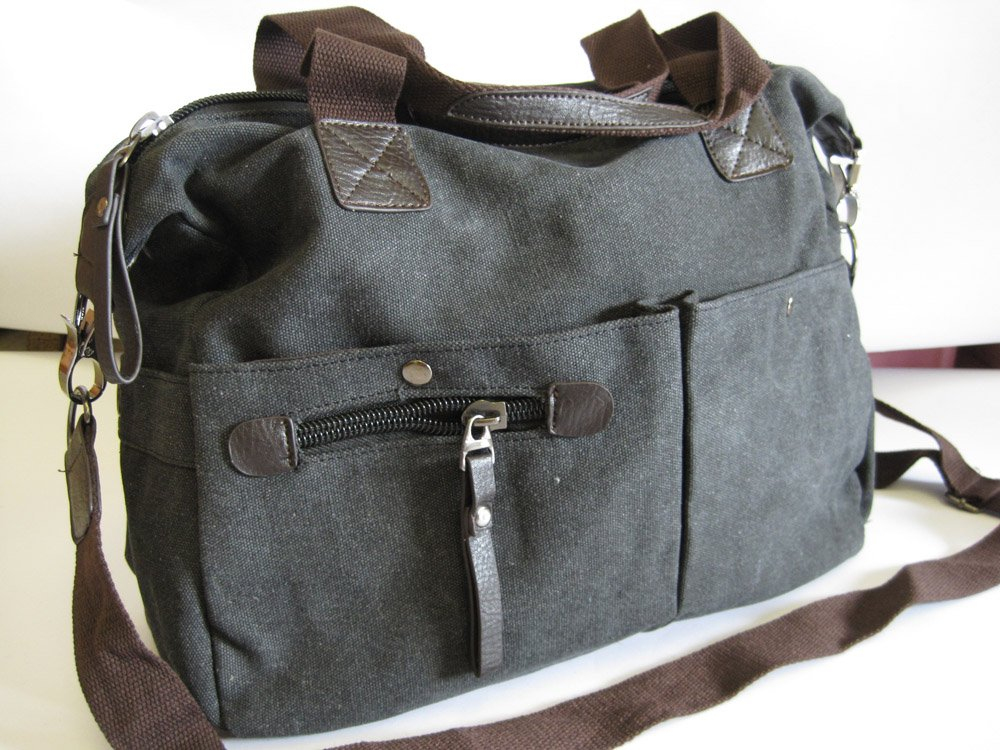 Sling / Shoulder Canvas Messenger bag dark grey 001