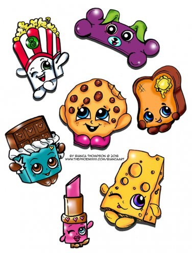 Shopkins 7pc Sticker Set