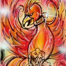 PHOENIX BIRD Original Fantasy Sketch Card Painting by Bianca Thompson MARVEL