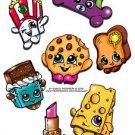 Shopkins 7pc Sticker Set KOOKY COOKIE CHEESY B, Original art by Bianca Thompson