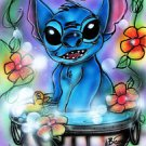 New Disney STITCH Lilo and Stitch Original Airbrush Painting by Bianca Thompson
