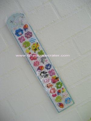 Happy Day Popup Sponge Glittery Extra Long Sticker Sheet - SK110001 - Blue