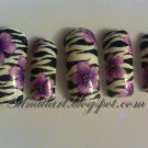 SALE! Flowered Zebra Print Set