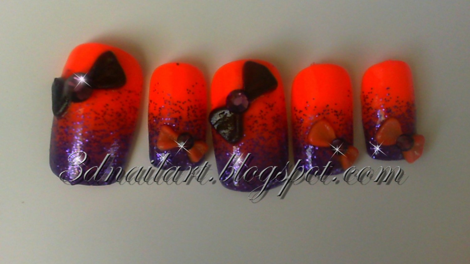 CLEARANCE! Orange and Purple Bows