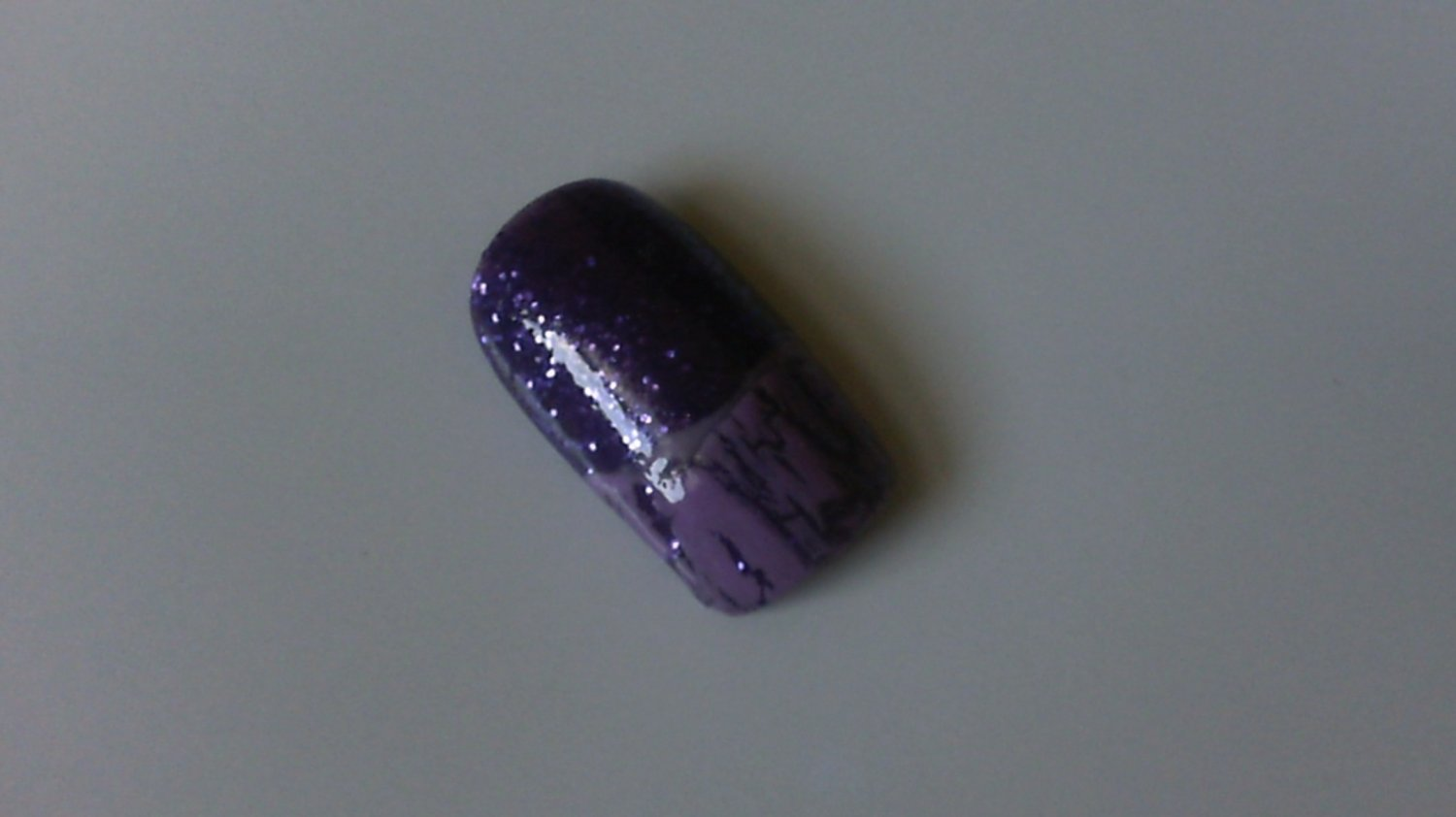 SALE! Purple glitter with Lilac Crackle French Set