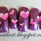 SALE! Hot Pink Hearts over Your Color Choice