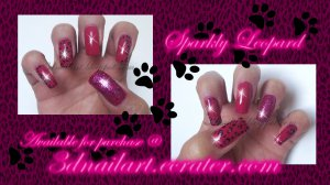 SALE! Sparkly Leopard