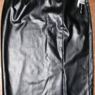 WOMENS SOHO APPAREL LTD. Brown FAUX LEATHER SKIRT SIZE 8