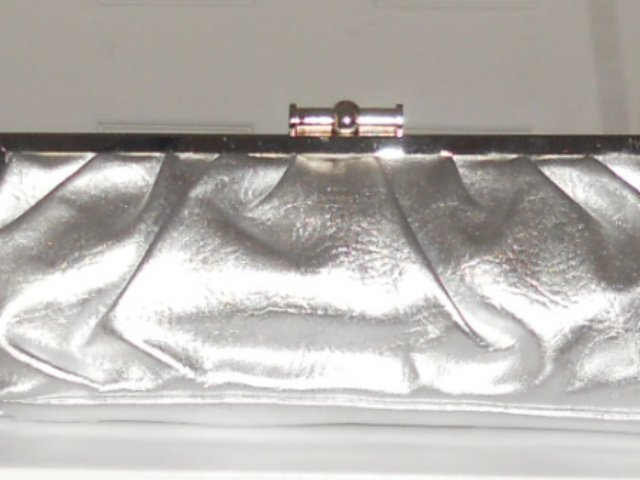 MATTE SILVER  CLUTCH EVENING BAG IN SILVER