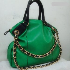 EMILY TOTE HANDBAG IN GREEN