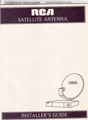 New RCA Satellite Antenna Installer's Manual Guide Book