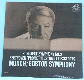 MUNCH/BOSTON LP Schubert Symphony No 2 1962