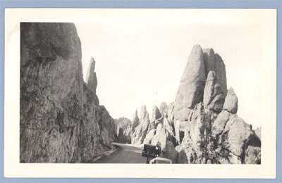 Vintage Photo 1930s SCENIC VIEW South to North Dakota
