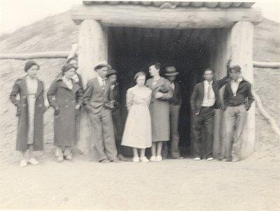 Vintage Photo 1930s INDIAN EARTH LODGE North Dakota