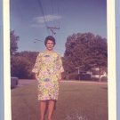 Vintage Photo WOMAN IN COLORFUL MUMU early 1960s
