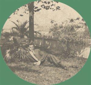 Vintage Photo CABINET CARD Man Reclining under Palm