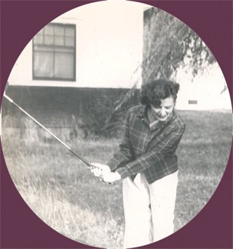Vintage Photo WOMAN Playing GOLF Golfer 1950