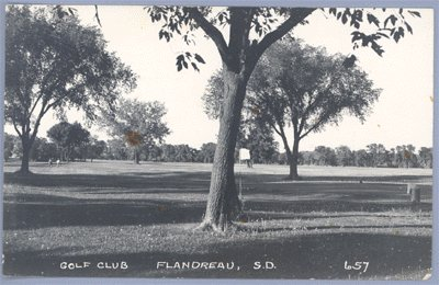Vintage PHOTO Postcard GOLF CLUB Flandreau SOUTH DAKOTA