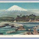 Vintage Postcard RIVER FUJI Japan 1952 USS LAERTES